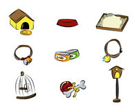 Pet Icons Royalty Free Stock Photo