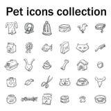 Pet icons doodle set, vector illustration. Pet icons doodle set, vector illustration Stock Image