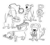 Pet icons doodle set, vector illustration. Stock Image