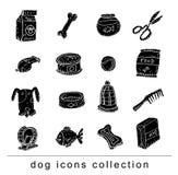 Pet icons doodle set, vector illustration. black. Royalty Free Stock Photo