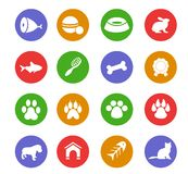 Pet- icons Royalty Free Stock Image
