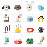 Pet icons. This image is a vector illustration Stock Photo