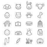 Pet Icons Line Royalty Free Stock Images