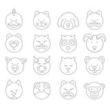Pet icons  mono  symbols Royalty Free Stock Photo