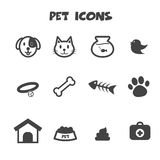 Pet icons. Mono vector symbols Royalty Free Stock Photos