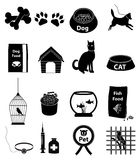 Pet icons set. Pet  icons set in black Stock Photos