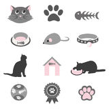 Pet icons set Stock Photo