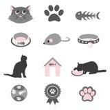 Pet icons set. Cartoon  illustration Stock Photo