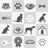 Pet icons set Royalty Free Stock Photography
