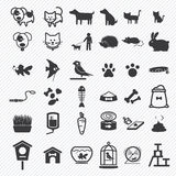 Pet icons set Stock Images