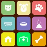 Pet icons. Set of pet icons, vector eps8 illustration Stock Image
