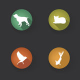 Pet Icons Set. Vet Symbols. pets icon silho Stock Image