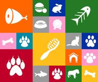 The pet icons Stock Photos