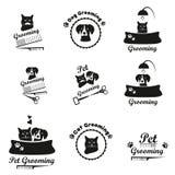 Pet il logo governare, l'etichetta, raccolta nera dell'emblema di bages illustrazione vettoriale