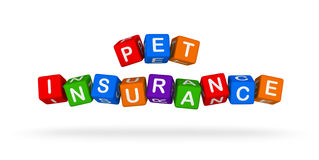 Pet Insurance Colorful Sign. Multicolor Toy Blocks. Royalty Free Stock Image