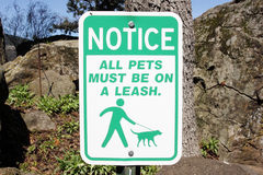 Pet leash sign Stock Photography