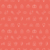 Pet line icon pattern set Royalty Free Stock Photos
