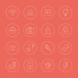 Pet line icon set Royalty Free Stock Image