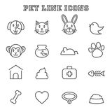 Pet line icons Royalty Free Stock Photo