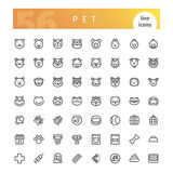 Pet Line Icons Set Royalty Free Stock Photos
