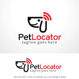 Pet Locator Logo Template Design Vector, Emblem, Design Concept, Creative Symbol, Icon Royalty Free Stock Images