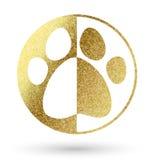 Pet logo in golden Royalty Free Stock Image