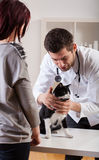 Pet during medical appointment Royalty Free Stock Photo