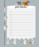 Pet menu Royalty Free Stock Photo