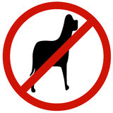 Pet no entry sign board Royalty Free Stock Image