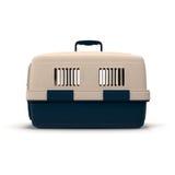 Pet o portador para o animal de estimação que viaja na ilustração 3D branca ilustração stock