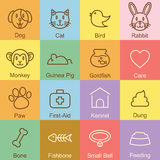 Pet outline design. Vector infographic elements Royalty Free Stock Photo