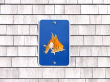 Pet only parking sign humor goldfishes Stock Images