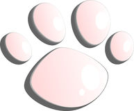 Pet paw symbol vector Royalty Free Stock Photos