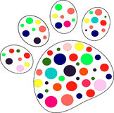 Pet paw vector Stock Photo