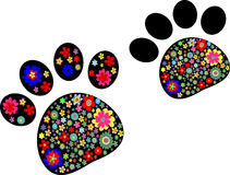 Pet paw vector Royalty Free Stock Images