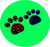 Pet paw vector Royalty Free Stock Photography