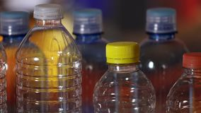 PET or plastic bottle stock video footage