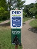 Pet Poop Station. In the Columbus, Ohio Park of Roses Stock Photography