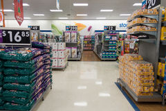 Pet products, Big W superstore royalty free stock image