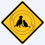 Pet protection sign Royalty Free Stock Images