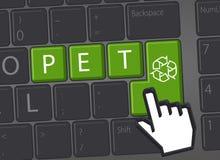 PET - recycling graphics stock image