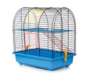 Pet rodent cage. Isolated on white background Royalty Free Stock Images