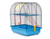 Pet rodent cage. Isolated on white background Royalty Free Stock Image