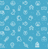 Pet Seamless Pattern. Vector. Pet Seamless Pattern on a Blue Background. Vector illustration Stock Photo