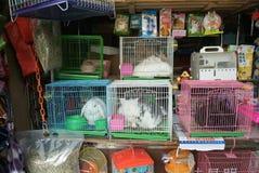 Pet seller. Selling pet at the market in Yunnan Stock Photos