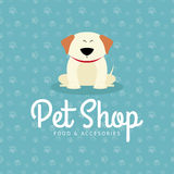Pet shop background. Abstract pet shop background with some special objects Royalty Free Stock Image