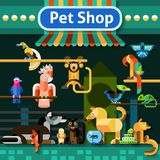 Pet Shop Background Royalty Free Stock Photography