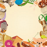 Pet shop background with pets Royalty Free Stock Photos
