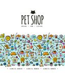 Pet shop background, seamless pattern for your design. Vector illustration Royalty Free Stock Images