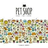 Pet shop background, seamless pattern for your design. Vector illustration Stock Image